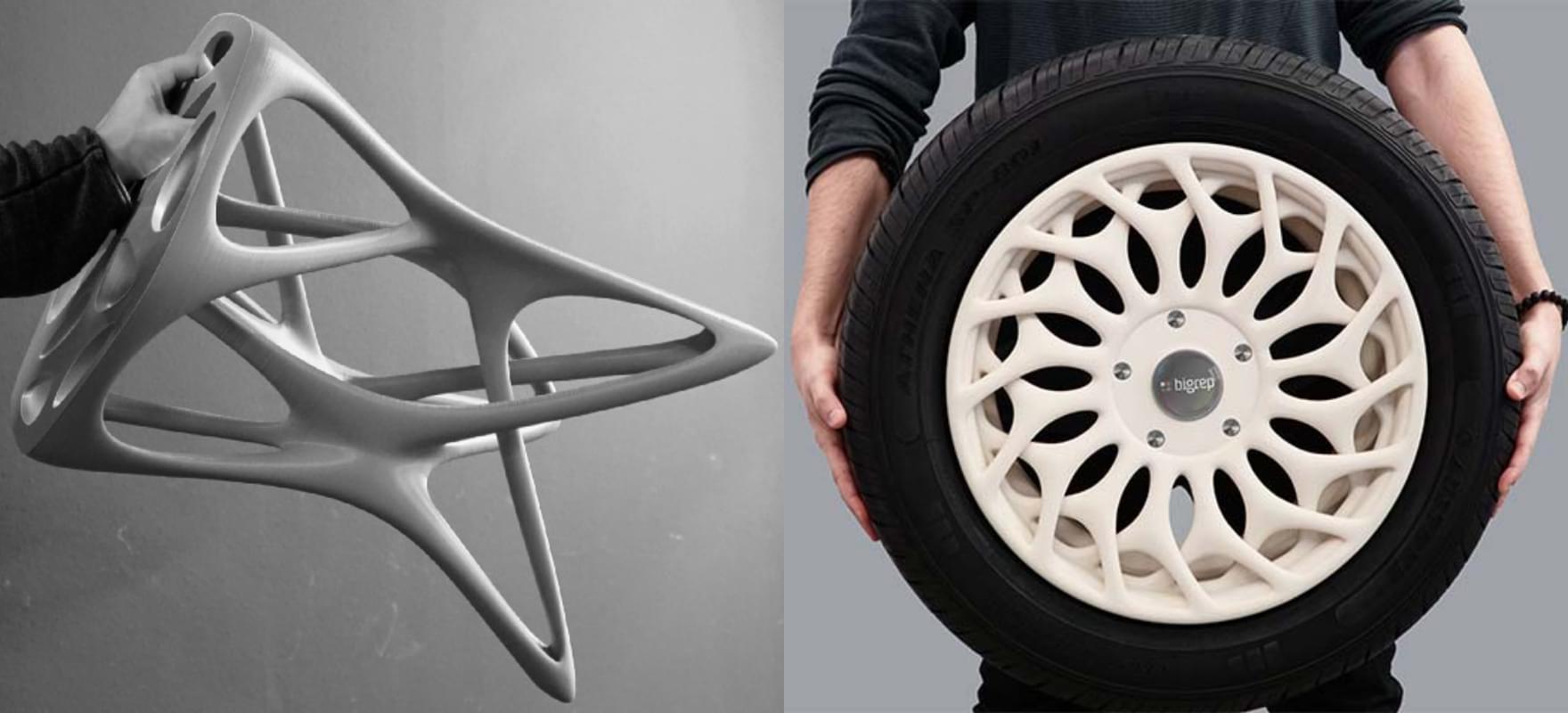 1m×1m×1mの大型サイズ造形や長繊維カーボン入りの造形が可能